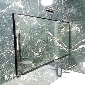 Зеркало в черной металлической раме, 5мм, 600(В)х1200(Ш)мм