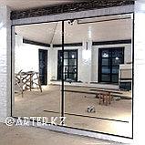 Зеркало в черной металлической раме, 20мм, 2200(В)х1400(Ш)мм, фото 2