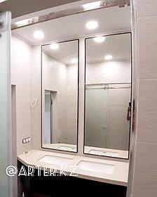 Зеркало в черной металлической раме, 5мм, 1855(В)х650(Ш)мм