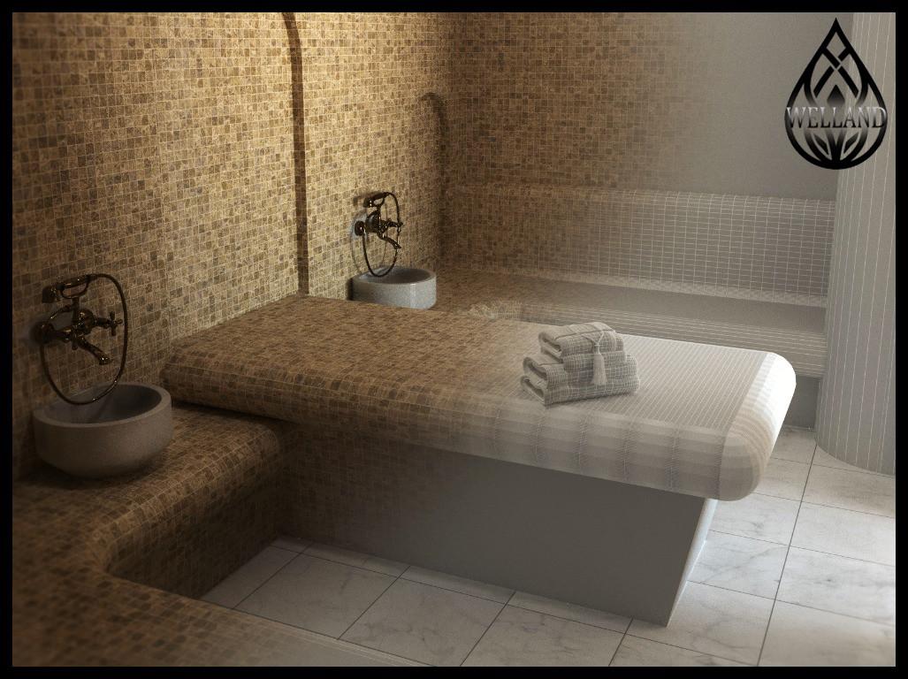 3D визуализация паровых комнат (steam room)