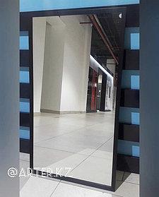 Зеркало в черной металлической раме, 20мм, 900(В)х500(Ш)мм