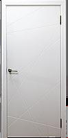 "Межкомнатная дверь""Абстракция"" покрытие эмаль, цвет белый"