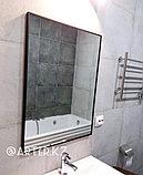 Зеркало в черной металлической раме, 5мм, 800(В)х600(Ш)мм, фото 2
