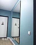 Зеркало в черной металлической раме, 5мм, 2000(В)х1500(Ш)мм, фото 2