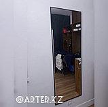 Зеркало в черной металлической раме, 5мм, 1700(В)х600(Ш)мм, фото 3