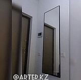 Зеркало в черной металлической раме, 5мм, 1700(В)х600(Ш)мм, фото 2