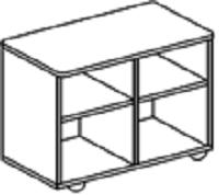 Тумба-стол универсальный для детского сада (800х400х620) арт. СТМ10