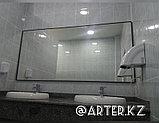Зеркало в черной металлической раме, 5мм, 900(В)х1850(Ш)мм, фото 3