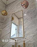 Зеркало в золотистой металлической раме, 5мм, 1100(В)х550(Ш)мм, фото 2