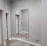 Зеркало в серебристой металлической раме, 20мм, 1800(В)х1000(Ш)мм, фото 3