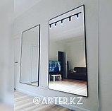 Зеркало в черной металлической раме, 5мм, 1800(В)х1000(Ш)мм, фото 2