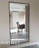 Зеркало в черной металлической раме, 20мм, 2300(В)х1000(Ш)мм, фото 2