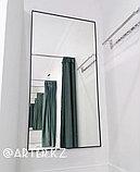 Зеркало в черной металлической раме, 5мм, 1500(В)х810(Ш)мм, фото 2