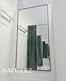 Зеркало в черной металлической раме, 5мм, 1500(В)х810(Ш)мм, фото 3