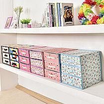 Органайзер комод 3 ящика (розовый с мишками), фото 2