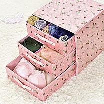 Органайзер комод 3 ящика (розовый с мишками), фото 3