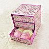 Органайзер комод 3 ящика (розовый с цветочками), фото 4