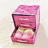Органайзер комод 3 ящика (коричневый с цветочками), фото 3