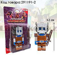 """Набор фигурок игровой для детей из серии Майнкрафт """"Minecraft"""" с кинжалом 2 предмета 02"""