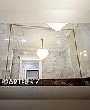 Зеркало в золотистой металлической раме, 5мм, 1535(В)х1920(Ш)мм, фото 2