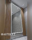 Зеркало с LED-подсветкой в черной металлической раме, 5мм, 2750(В)х1500(Ш)мм, фото 2