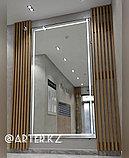 Зеркало с LED-подсветкой в черной металлической раме, 5мм, 2750(В)х1500(Ш)мм, фото 3