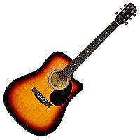 Электро-акустическая гитара Fender Squier SA-105CE Dreadnout Sunburst