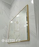 Зеркало в золотистой металлической раме, 5мм, 800(В)х1100(Ш)мм, фото 3