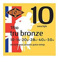 Струны для акустической гитары Rotosound Tru Bronze TB10 80/20