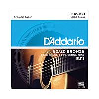 Струны для акустических гитар D'addario EJ11