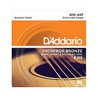 Струны для акустических гитар D'addario EJ15