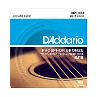 Струны для акустических гитар D'addario EJ16