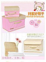 Органайзер коробка, набор 2 шт (S+L) розовый в горошек, фото 3