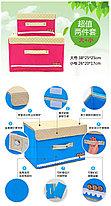 Органайзер коробка, набор 2 шт (S+L) фиолетовый в горошек, фото 2