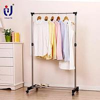 Вешалка для одежды напольная гардеробная телескопическая 1 перекладина 0305