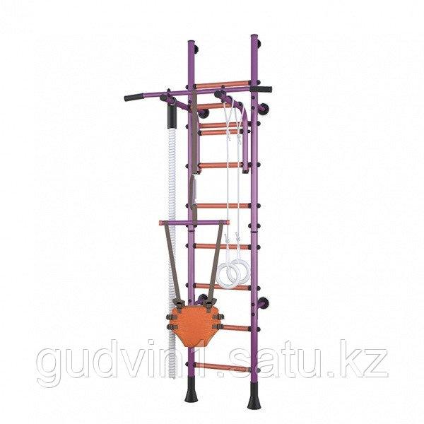 Детский спортивный комплекс Polini Sport Turbo, пристенный, фиолетовый 01-31285