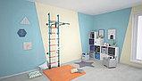 Детский спортивный комплекс Polini Sport Turbo, пристенный,  лазурный 01-31283, фото 2