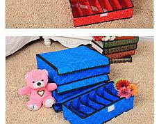 Органайзер для белья, набор 3 штуки (красный в горошек), фото 2