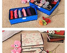 Органайзер для белья, набор 3 штуки (красный в горошек), фото 3