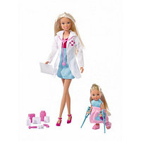 Кукла Simba Штеффи-детский доктор + кукла Эви, 29 см, и 12 см 10 5730934
