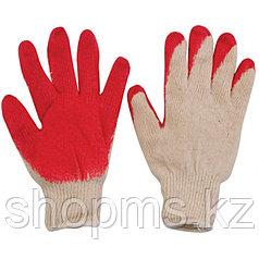 Перчатки вязаные х/б с резиновой заливкой наладонника