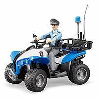 Bruder полицейский квадроцикл с фигуркой, фото 1
