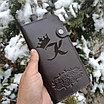 Портмоне мужской кожаный с гравировкой, фото 3