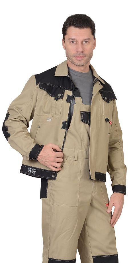 Куртка Вест-Ворк беж.  с черн.