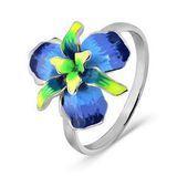 Кольцо Красносельский ювелирпром серебро с родием, эмаль, флора 3627000315-1 размеры - 16,5