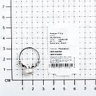 "Кольцо TEOSA серебро с родием, жемчуг культ. фианит, ""halo"" PRLJR00726-W, фото 3"