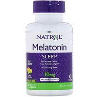 Natrol, Мелатонин, максимальная сила, цитрусовый вкус, 10 мг, 100 таблеток