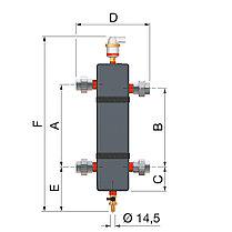Гидравлические стрелки Flamco FlexBalance EcoPlus C 1 1⁄4 \ DN 32, фото 3