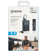 Беспроводной микрофон комплект Boya BY-WM4 PRO-K5, фото 3
