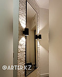 Зеркало в черной металлической раме, 5мм, 1800(В)х700(Ш)мм, фото 2
